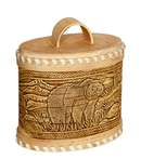 Russian bear kitchen oval jar