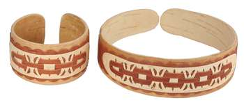 Birch bark wristband