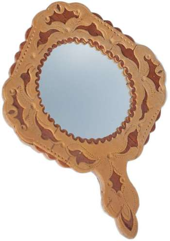 Birchbark framed mirror