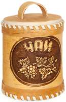 Birch bark tea jar with lid