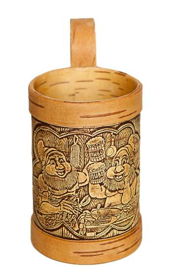 Cute gnomes birch bark mug