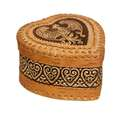 Firebird heart birch bark box